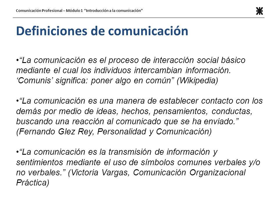 Definiciones de comunicación