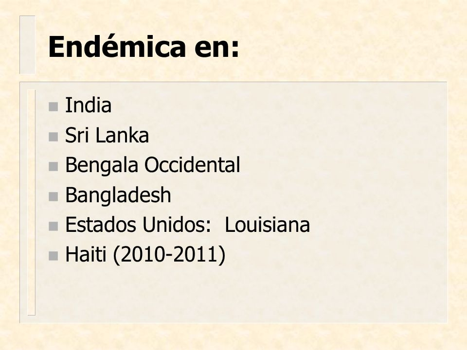 Endémica en: India Sri Lanka Bengala Occidental Bangladesh