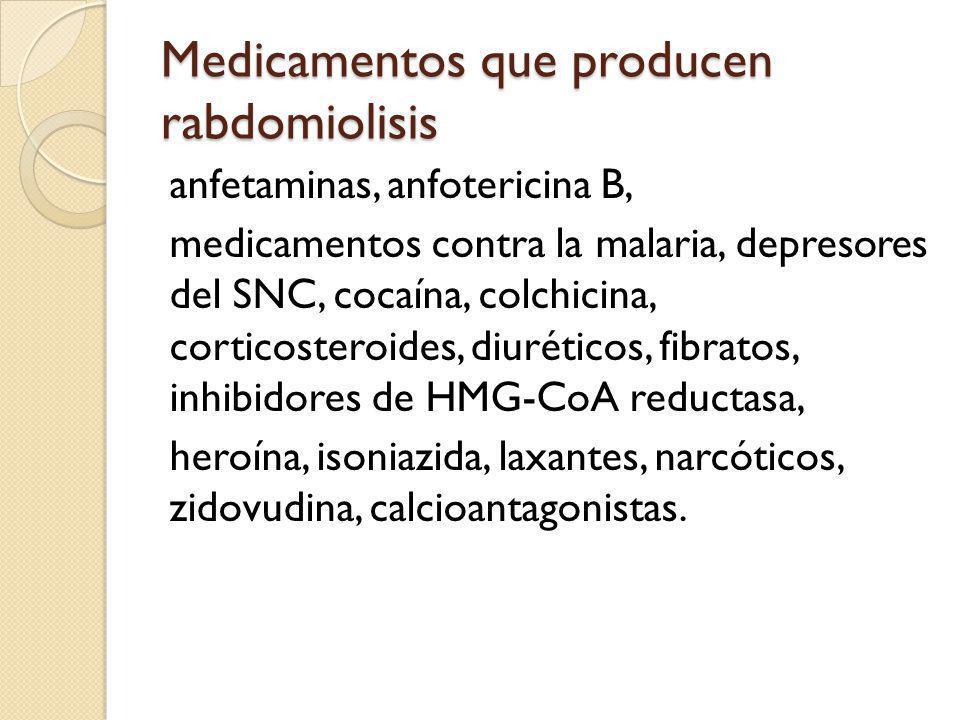 Medicamentos que producen rabdomiolisis