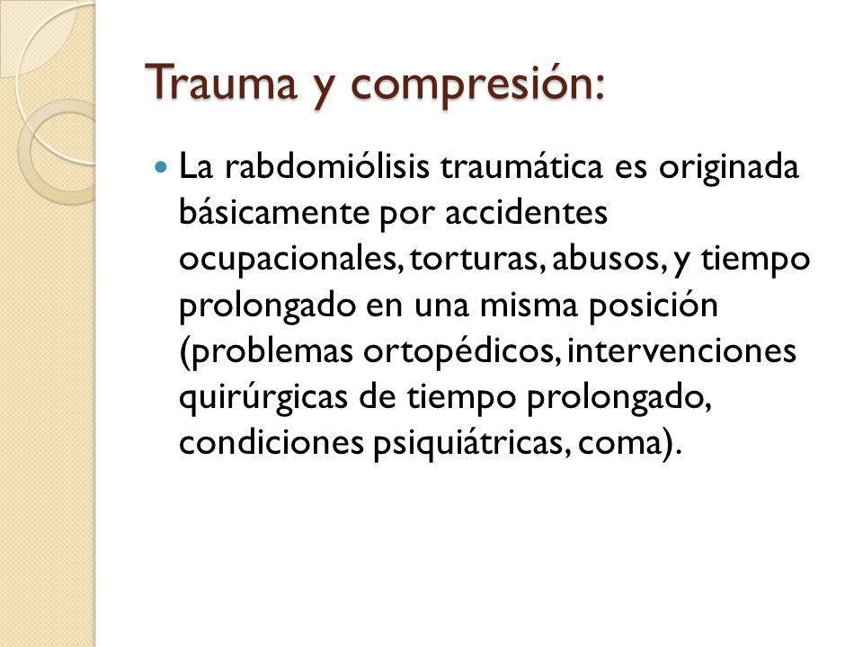 Trauma y compresión: