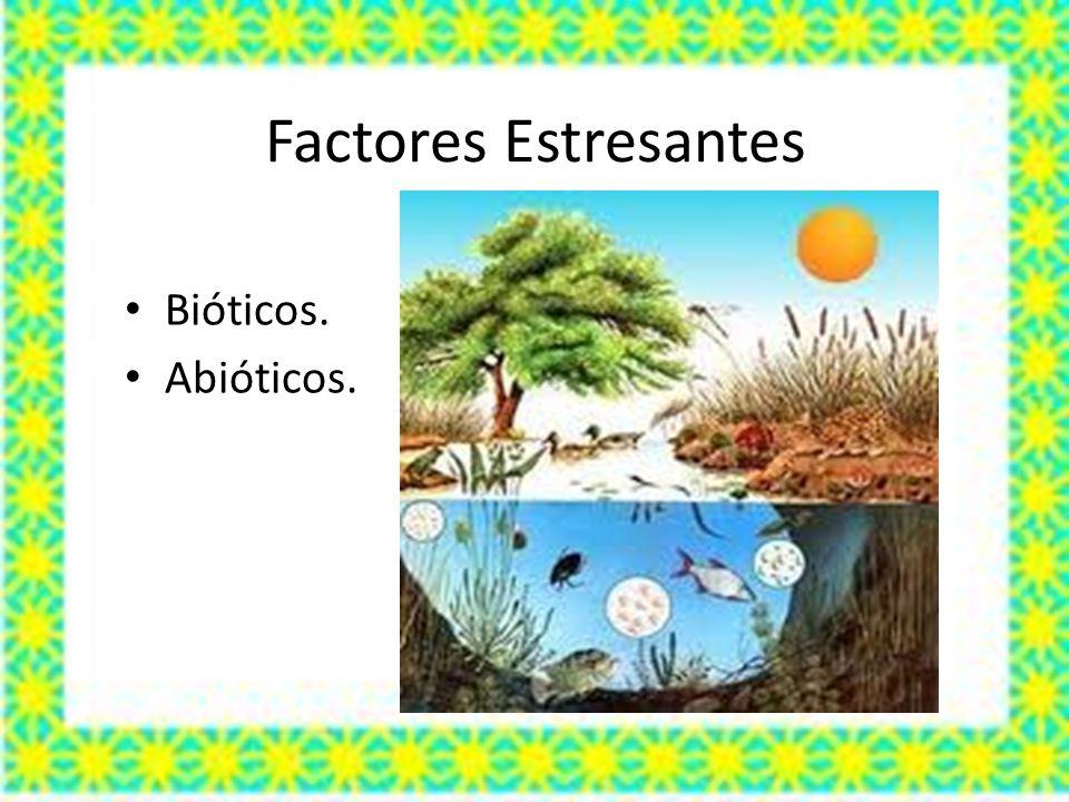 Factores Estresantes Bióticos. Abióticos.