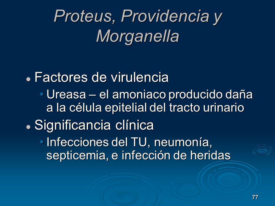Proteus, Providencia y Morganella