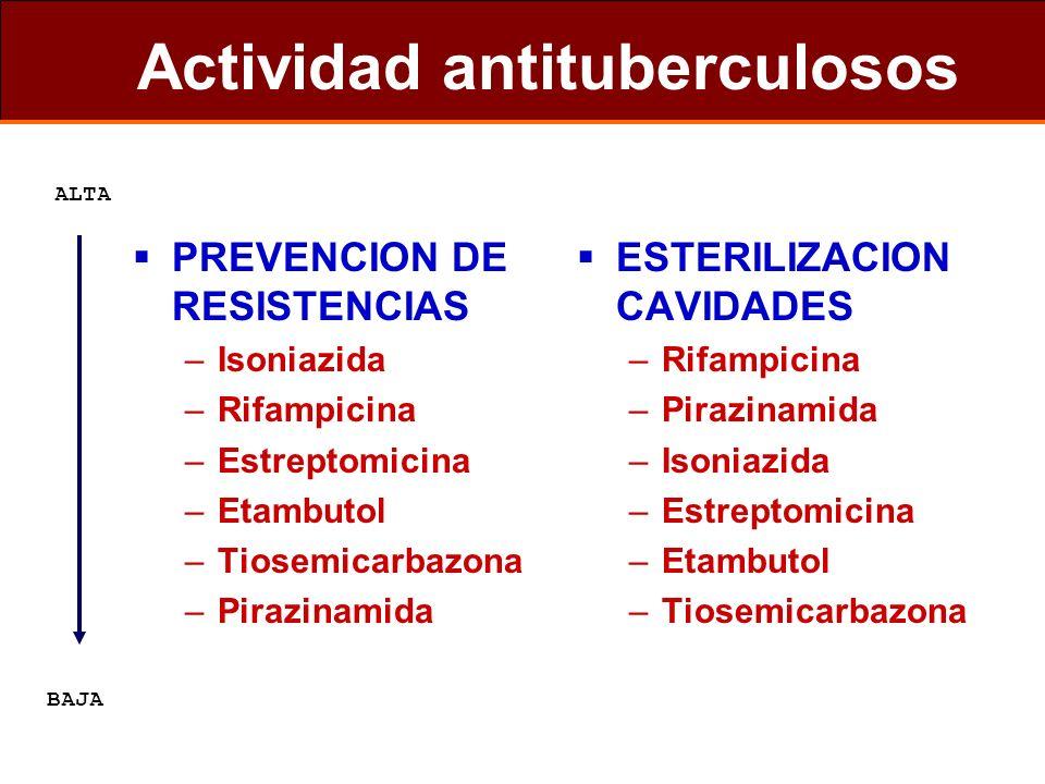 Actividad antituberculosos