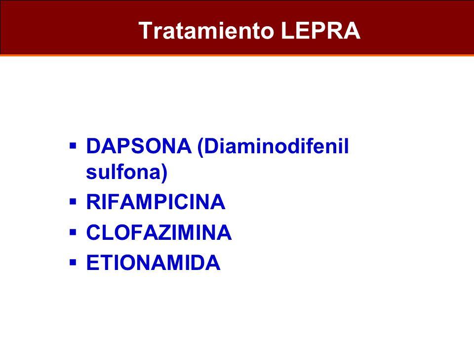 Tratamiento LEPRA DAPSONA (Diaminodifenil sulfona) RIFAMPICINA