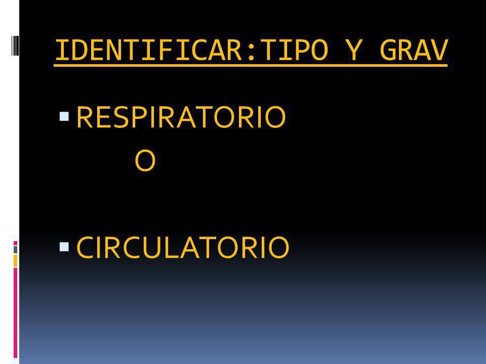IDENTIFICAR:TIPO Y GRAV