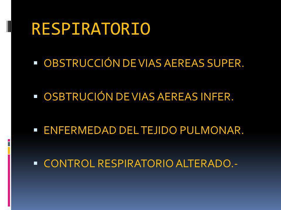 RESPIRATORIO OBSTRUCCIÓN DE VIAS AEREAS SUPER.