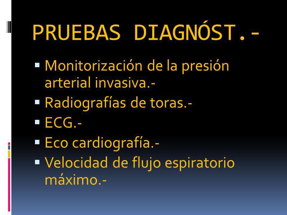 PRUEBAS DIAGNÓST.- Monitorización de la presión arterial invasiva.-