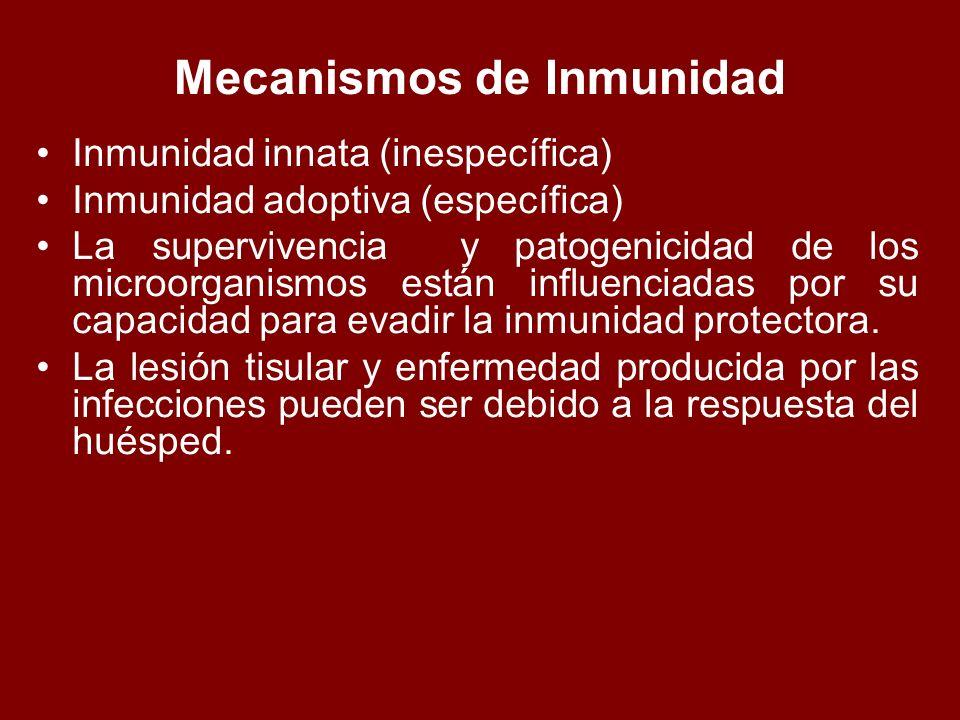 Mecanismos de Inmunidad