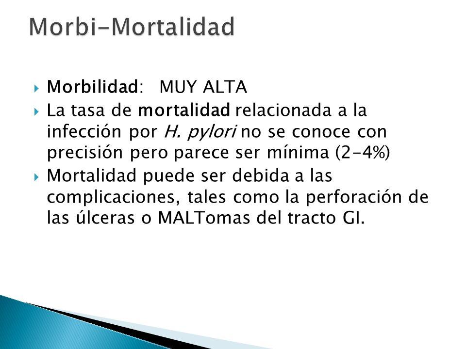 Morbi-Mortalidad Morbilidad: MUY ALTA