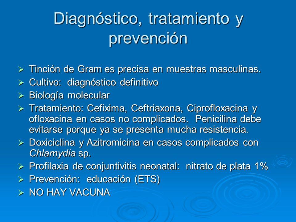 Diagnóstico, tratamiento y prevención