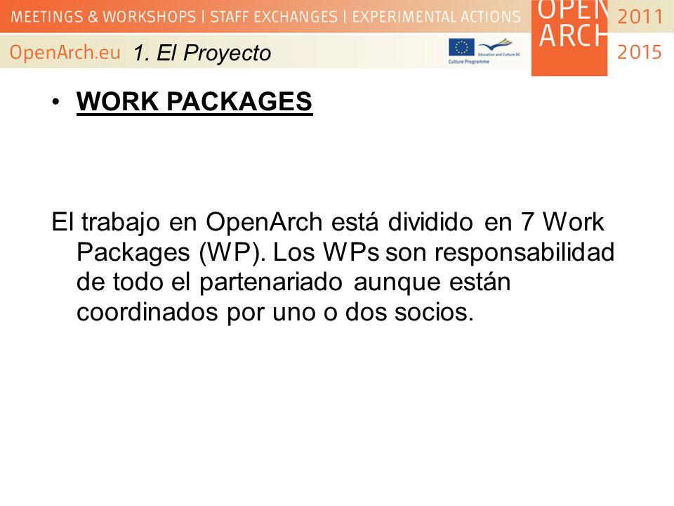 1. El Proyecto WORK PACKAGES.
