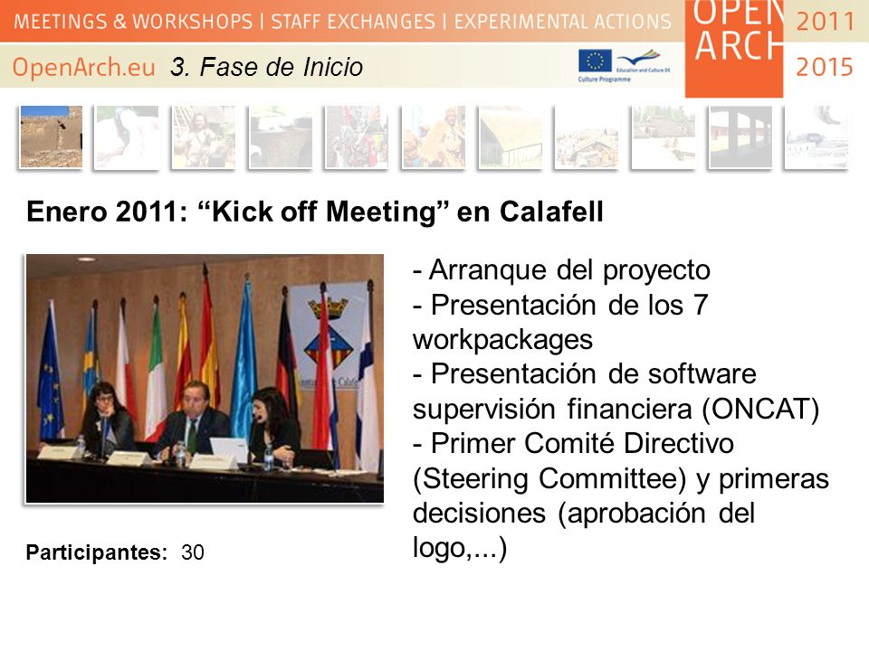 Enero 2011: Kick off Meeting en Calafell