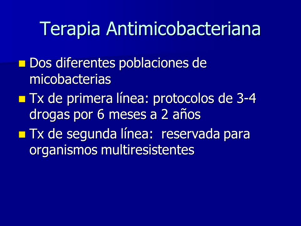 Terapia Antimicobacteriana