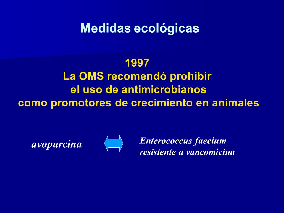 Medidas ecológicas 1997 La OMS recomendó prohibir