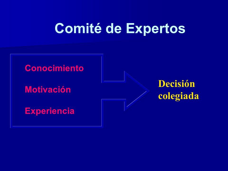 Comité de Expertos Decisión colegiada Conocimiento Motivación