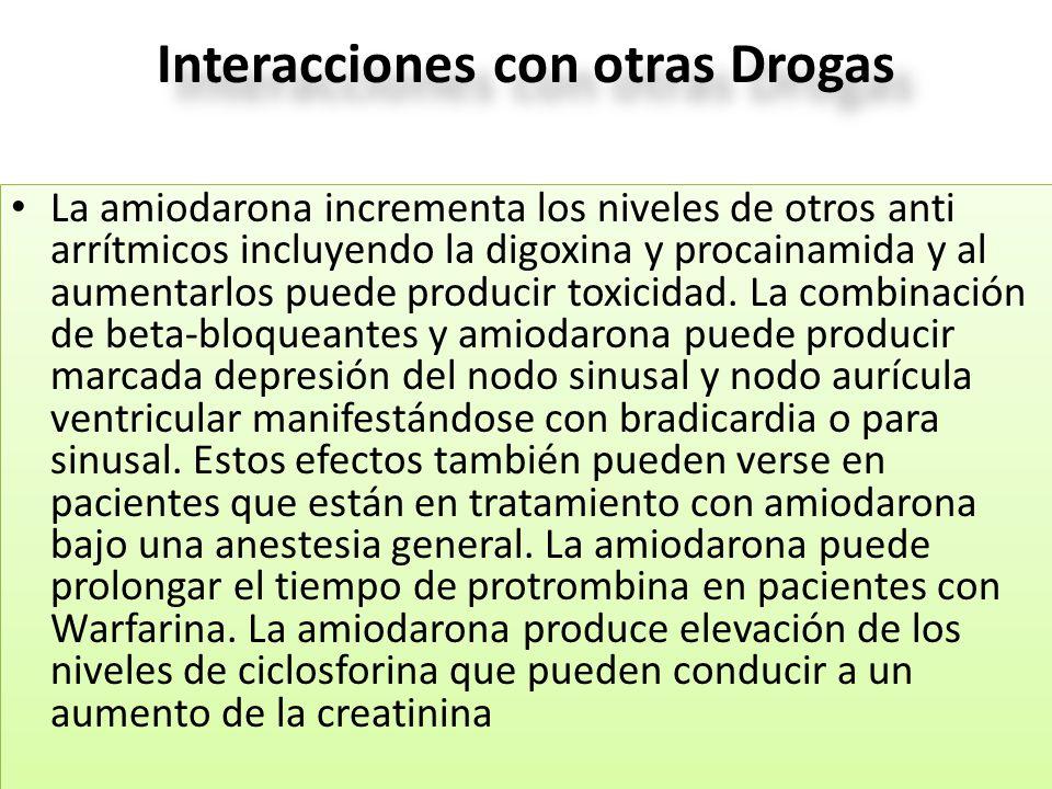 Interacciones con otras Drogas
