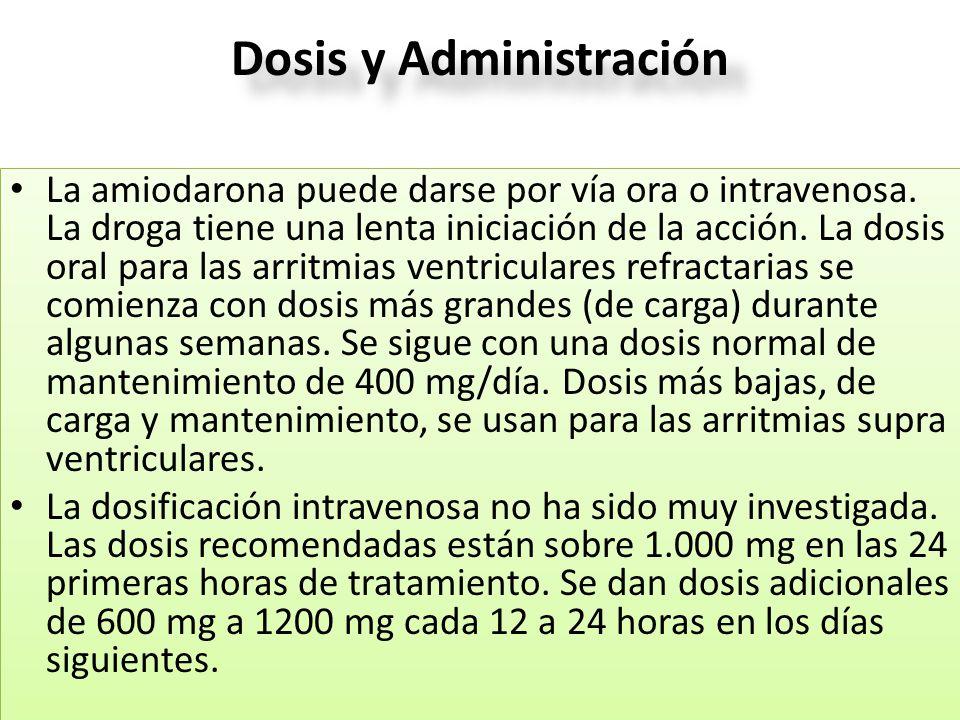 Dosis y Administración