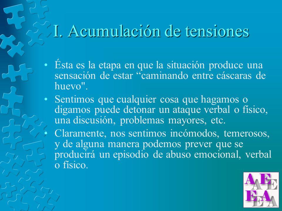 I. Acumulación de tensiones
