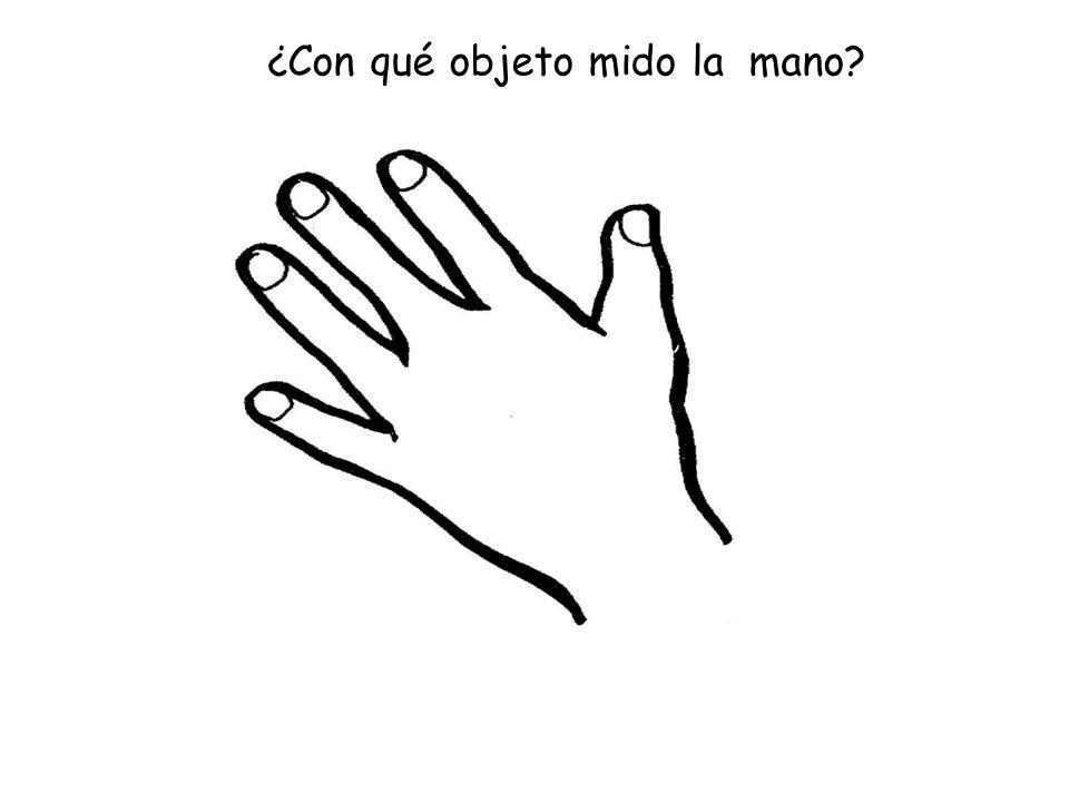 ¿Con qué objeto mido la mano