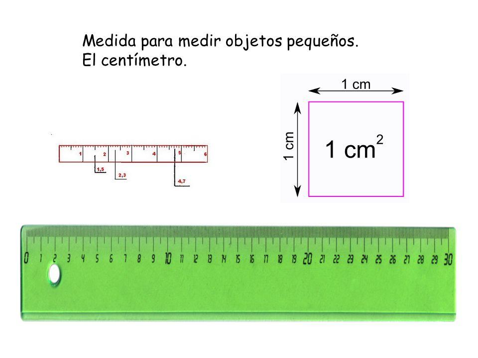 Medida para medir objetos pequeños.