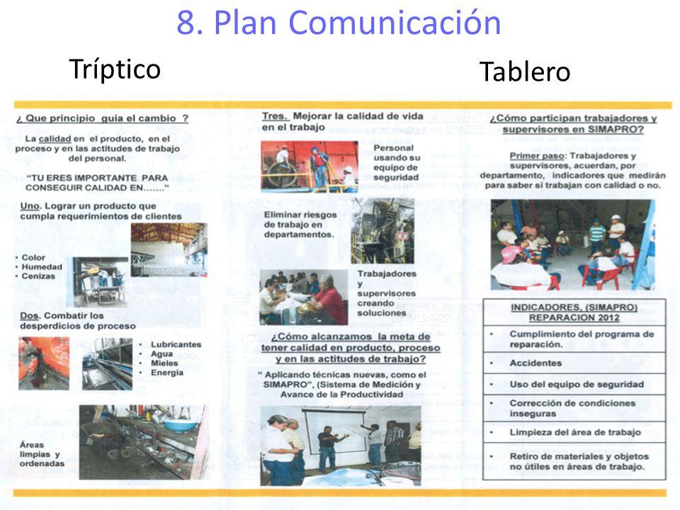 8. Plan Comunicación Tríptico Tablero