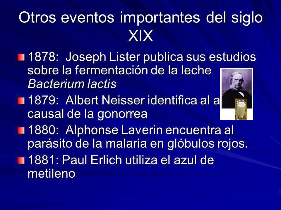 Otros eventos importantes del siglo XIX