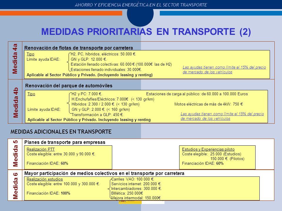 MEDIDAS PRIORITARIAS EN TRANSPORTE (2)