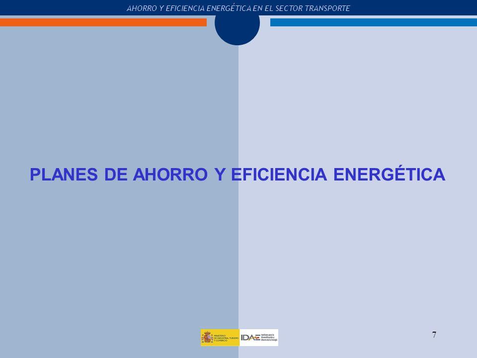 PLANES DE AHORRO Y EFICIENCIA ENERGÉTICA
