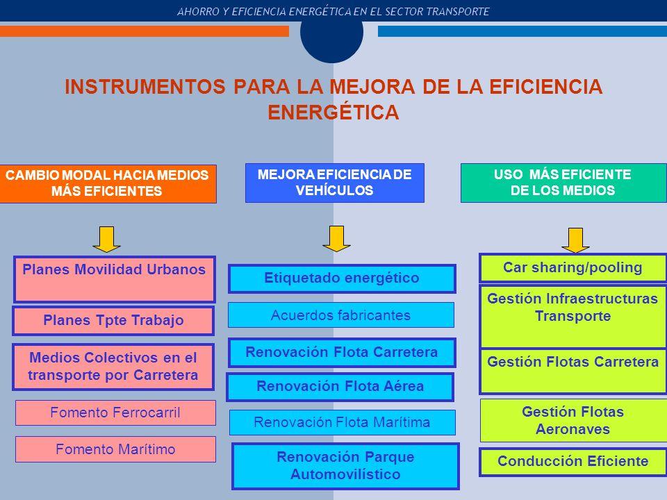 INSTRUMENTOS PARA LA MEJORA DE LA EFICIENCIA ENERGÉTICA