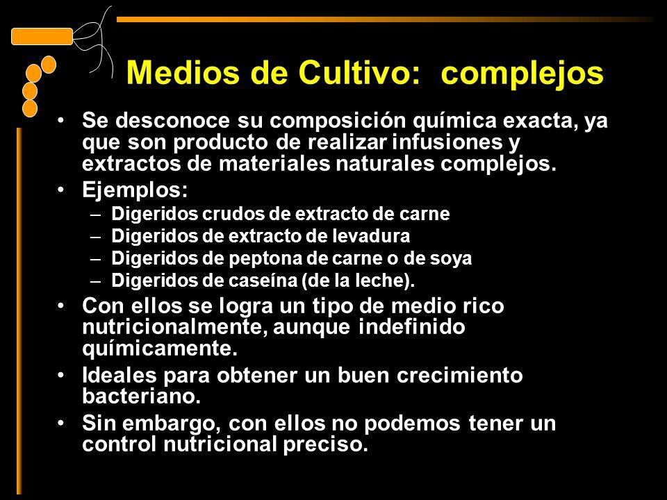 Medios de Cultivo: complejos