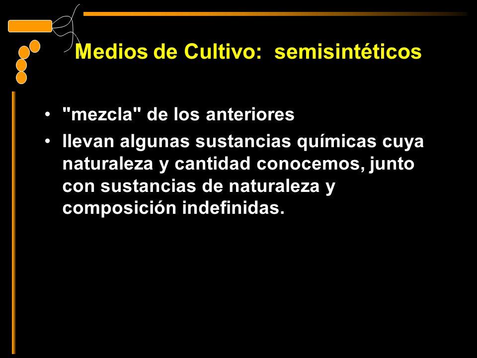 Medios de Cultivo: semisintéticos