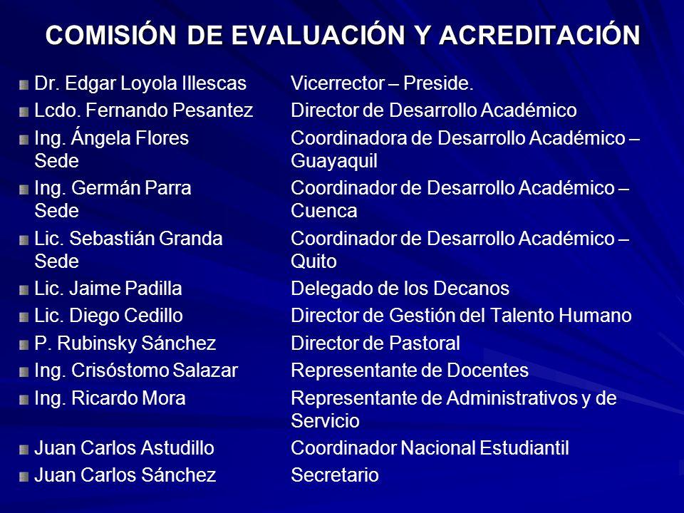 COMISIÓN DE EVALUACIÓN Y ACREDITACIÓN