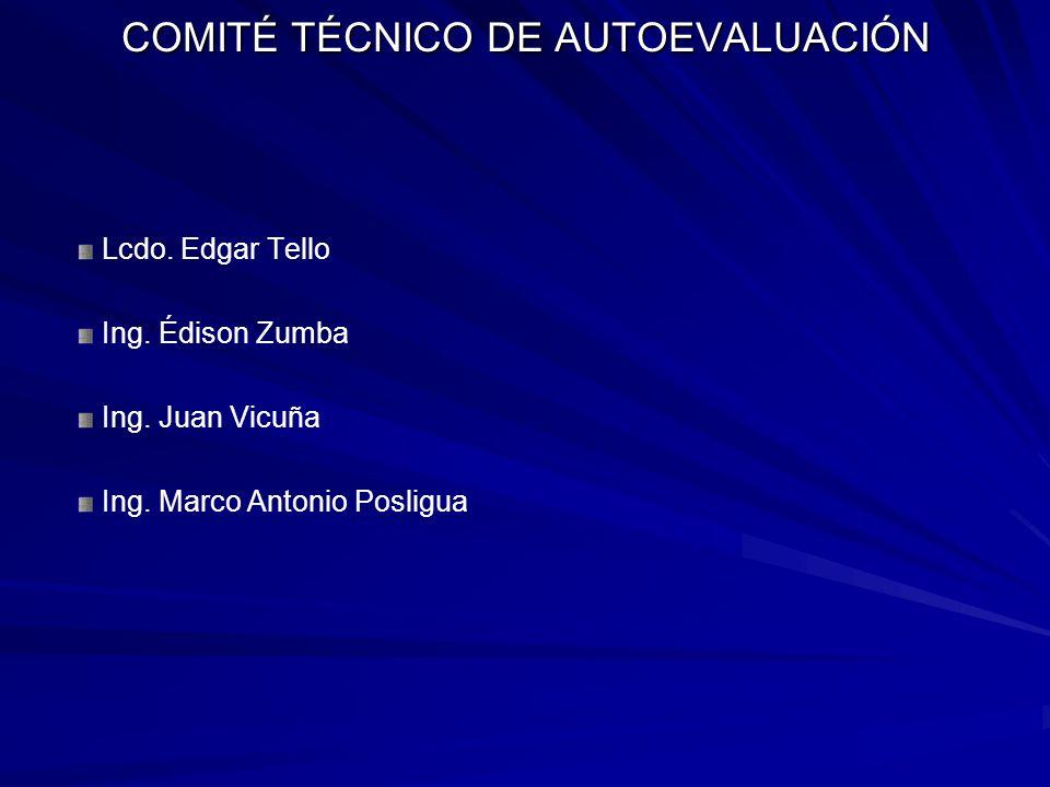 COMITÉ TÉCNICO DE AUTOEVALUACIÓN