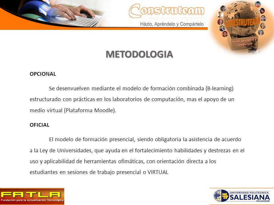 METODOLOGIA OPCIONAL.