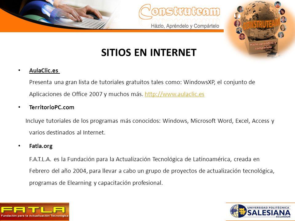 SITIOS EN INTERNET