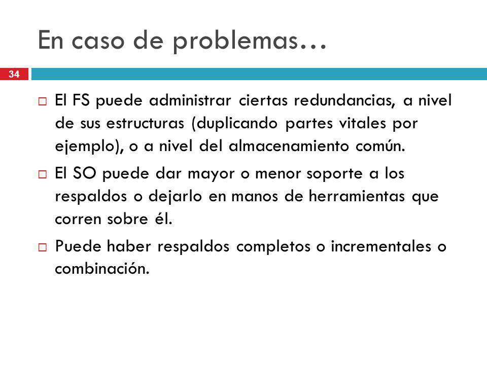 En caso de problemas…