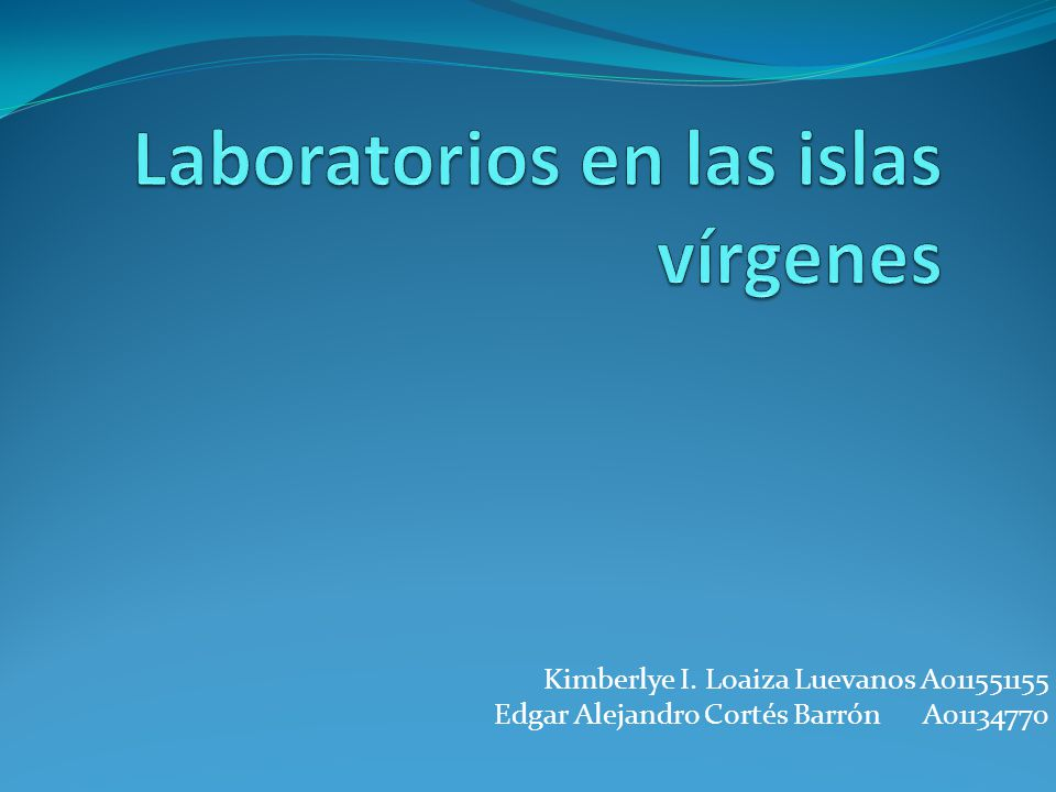 Laboratorios en las islas vírgenes