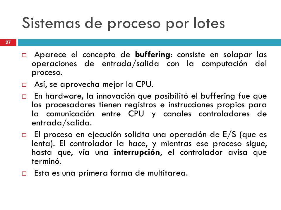 Sistemas de proceso por lotes