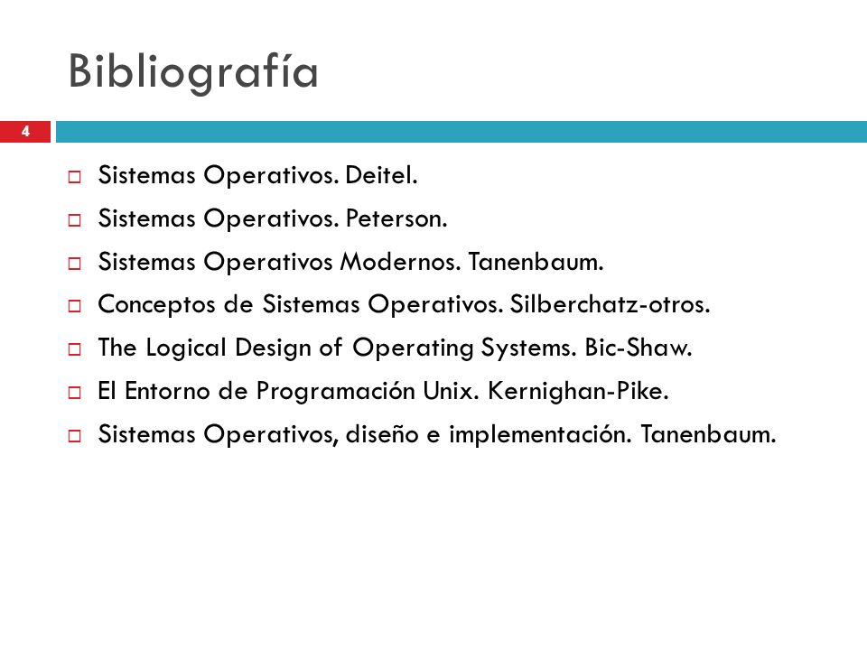 Bibliografía Sistemas Operativos. Deitel.
