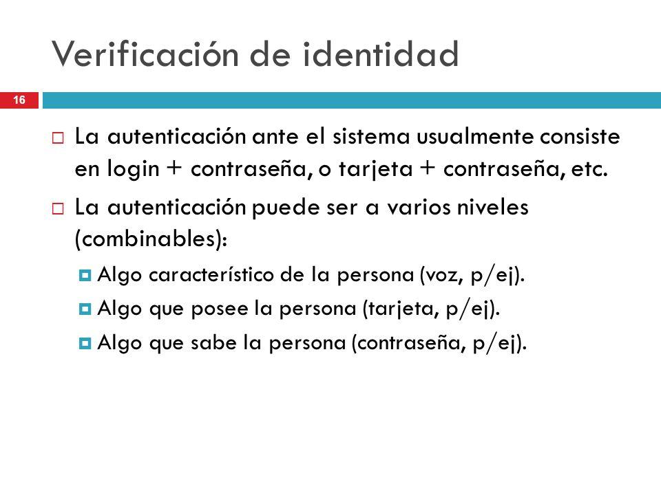 Verificación de identidad