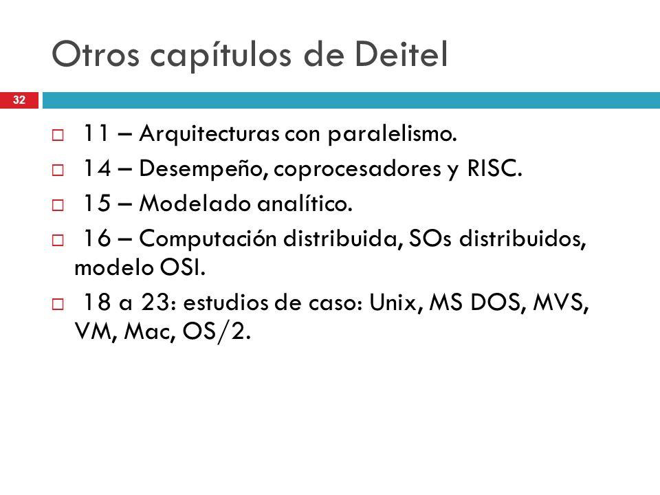 Otros capítulos de Deitel