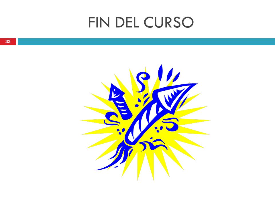 FIN DEL CURSO
