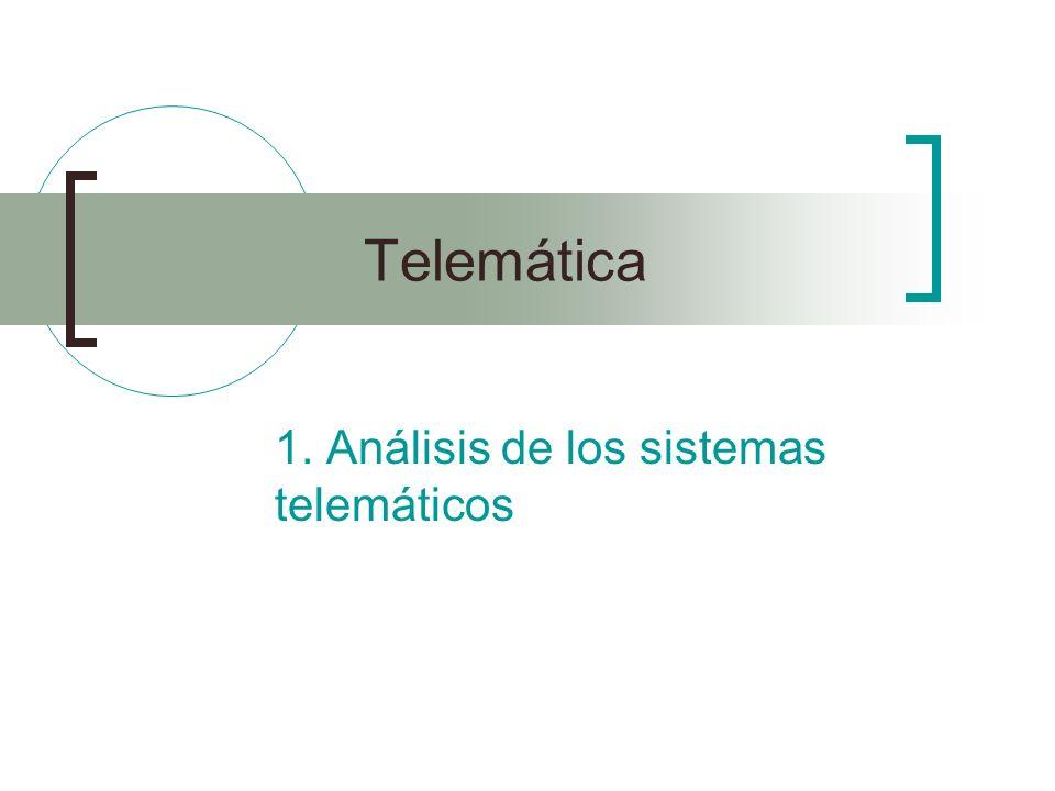 1. Análisis de los sistemas telemáticos