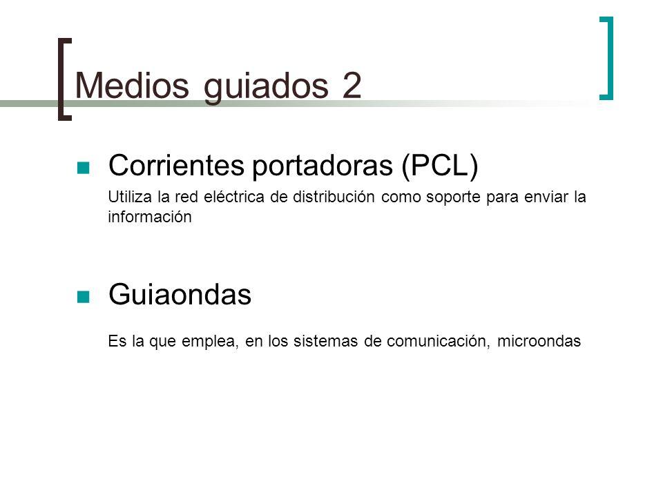 Medios guiados 2 Corrientes portadoras (PCL) Guiaondas