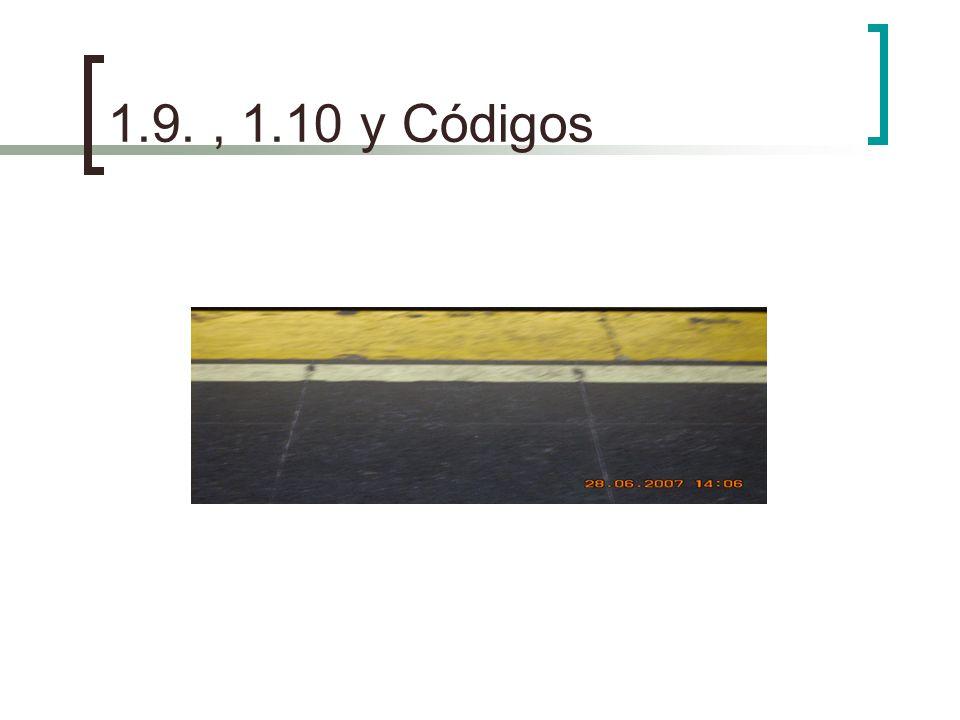 1.9. , 1.10 y Códigos