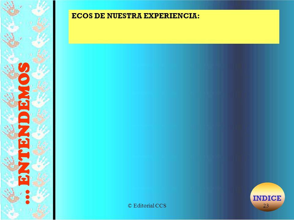 ECOS DE NUESTRA EXPERIENCIA:
