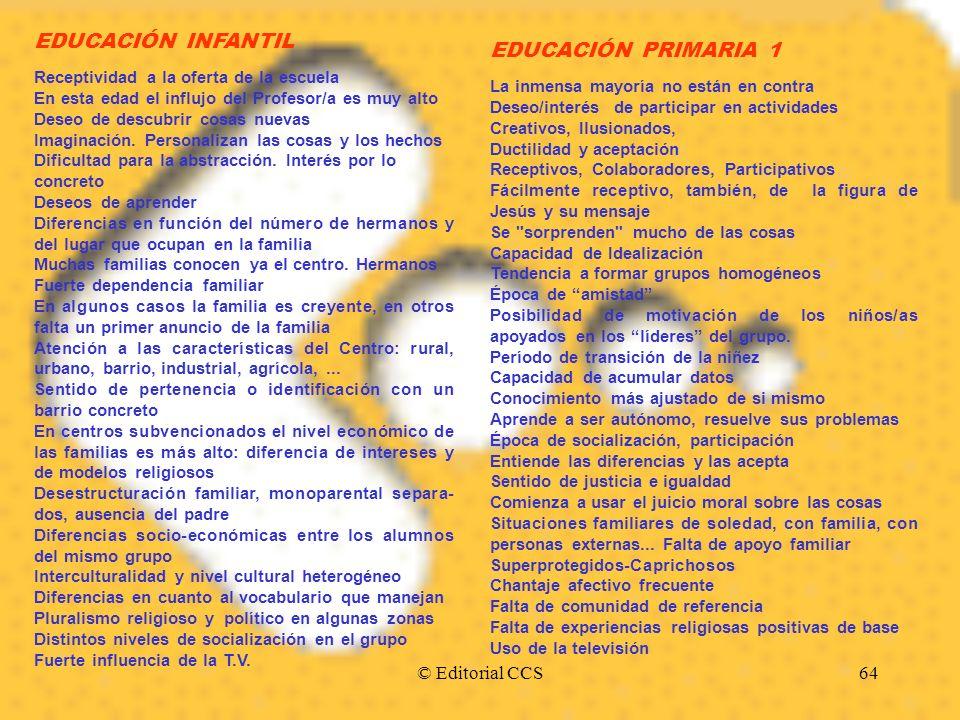 EDUCACIÓN INFANTIL EDUCACIÓN PRIMARIA 1 © Editorial CCS