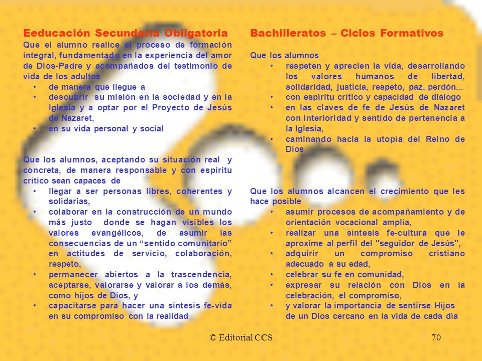 Eeducación Secundaria Obligatoria Bachilleratos – Ciclos Formativos