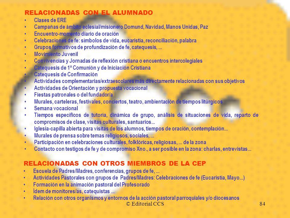 RELACIONADAS CON EL ALUMNADO