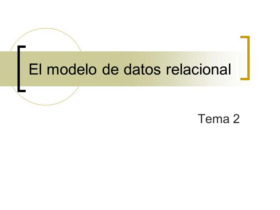 El modelo de datos relacional